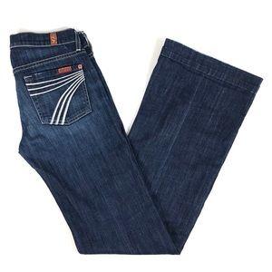 7 For All Mankind DOJO Wide Leg Jean 25x33